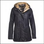 Barbour Durham Lightweight Ladies Navy Wax Jacket 1
