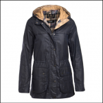 Barbour Durham Lightweight Ladies Royal Navy Wax Jacket