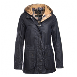 Barbour Durham Lightweight Ladies Royal Navy Wax Jacket 1