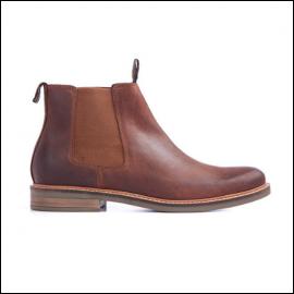Barbour Farsley Dark Tan Chelsea Boots 1