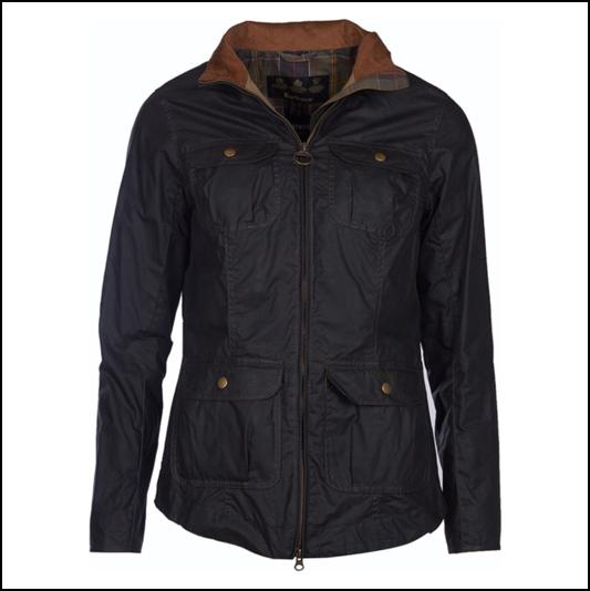 Barbour Filey Lightweight Ladies Dark Olive Wax Jacket