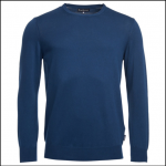 Barbour Garment Dyed Inky Blue Crew Neck Sweater