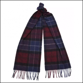 Barbour Holden Port-Navy Tartan Scarf 1