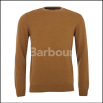 Barbour Lambswool Crew Neck Jumper Antique