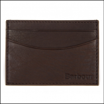 Barbour Leather Cardholder Dark Brown