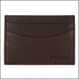 Barbour Leather Cardholder Dark Brown 1