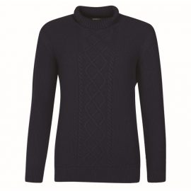 Barbour Leith Ladies Navy Roll Neck Sweater 1