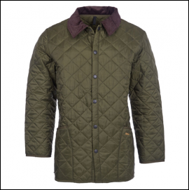 Barbour Liddesdale Quilted Jacket Olive 1