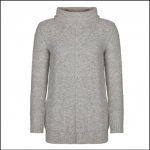 Barbour Malvern Ladies Light Grey Roll Collar Sweater