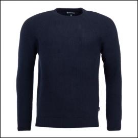 Barbour Manor Crew Neck Sweater Navy 1