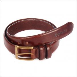 Barbour Men's Belt Gift Box Dark Brown 1