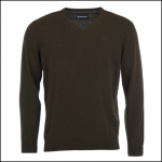 Barbour Nelson Essential V Neck Sweater Seaweed