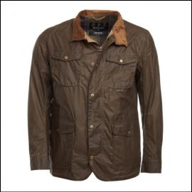 Barbour Ogston Dark Sand Lightweight Waxed Jacket 1