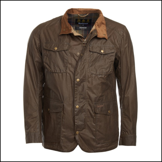 Barbour Ogston Dark Sand Lightweight Waxed Jacket 1