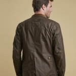 Barbour Ogston Dark Sand Lightweight Waxed Jacket 2