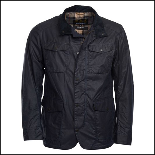 Barbour Ogston Royal Navy Lightweight Waxed Jacket 1