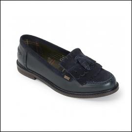 Barbour Olivia Ladies Navy Tassel Loafers 1