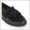Barbour Olivia Ladies Navy Tassel Loafers 3