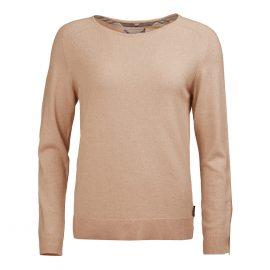 Barbour Pendle Ladies Caramel Crew Neck Sweater 1