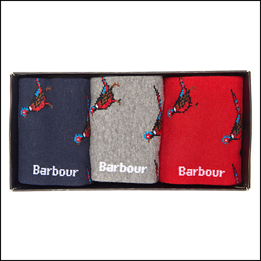 Barbour Pheasant Sock Gift Box Set 1