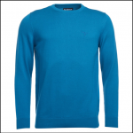 Barbour Pima Blue Steel Crew Neck Sweater