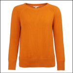 Barbour Portsdown Ladies Marmalade Crew Neck Jumper 1