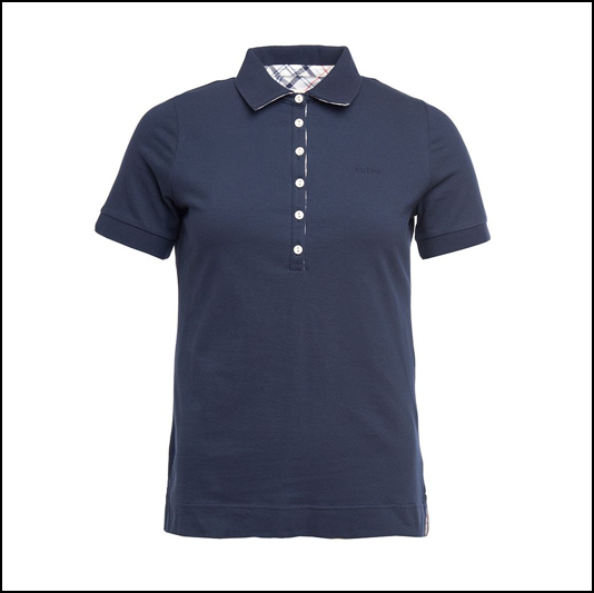 Barbour Prudhoe Ladies Navy Polo Shirt 1