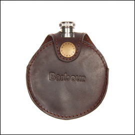 Barbour Round Hip Flask Brown 1