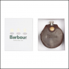 Barbour Round Hip Flask Brown 2