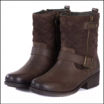 Barbour Sienna Dark Brown Ankle Boots 1