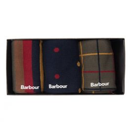 Barbour Tartan Sock Gift Set