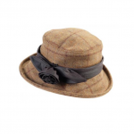 Barbour Tweed Rose Olive Hat
