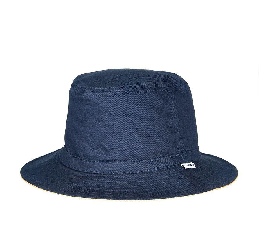 Barbour Waterproof Reversible Navy-Stone Sports Hat 1