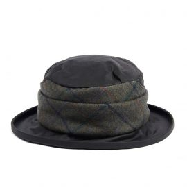 Barbour Wax with Tweed Brimmed Hat - Sage 1