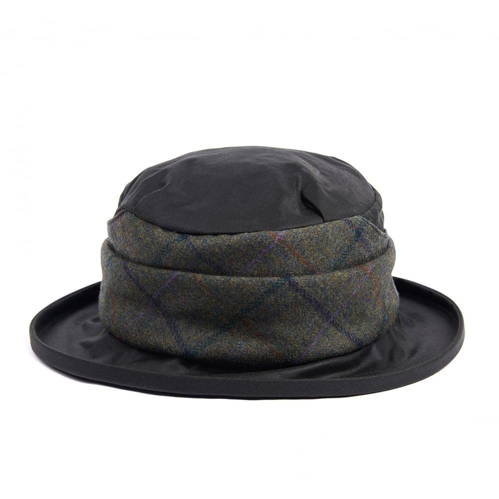 Barbour Wax with Tweed Brimmed Hat - Sage 1
