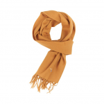 Barbour Plain Honey Lambswool Scarf