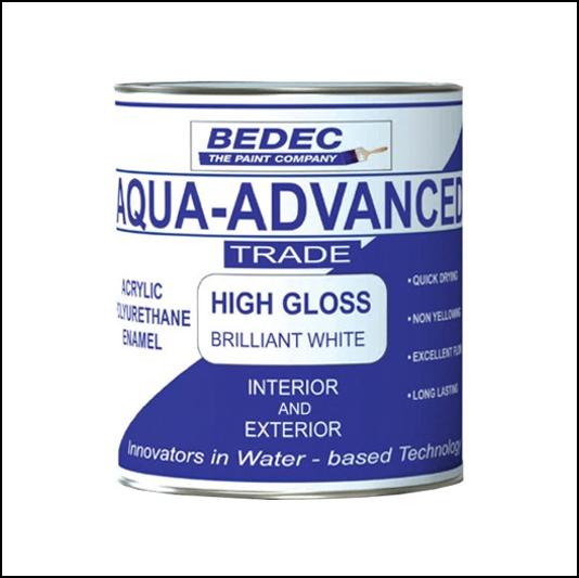 Bedec Aqua-Advance High Gloss Brilliant White 1L 1