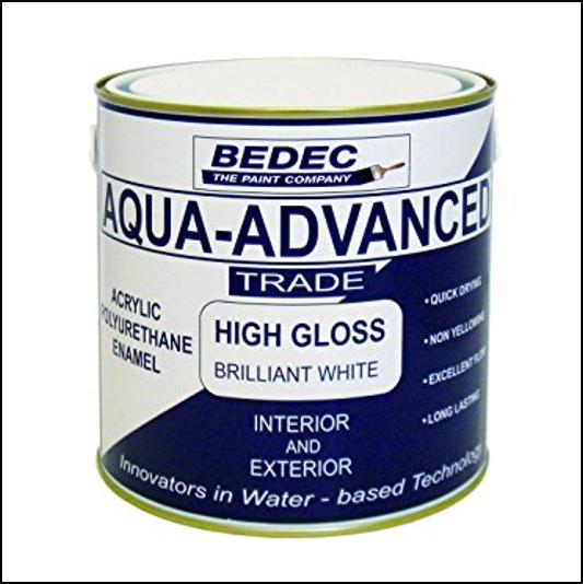 Bedec Aqua-Advanced High Gloss Brilliant White Paint 1