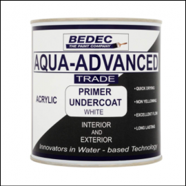 Bedec Aqua Advanced Primer Undercoat White 1L 1