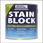 Bedec Interior & Exterior Stain Block Grey 750ml