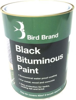Bird Brand Black Bituminous Paint