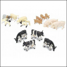 Britains Farm 17pc Mixed Animal Set 1:32 Scale