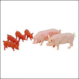 Britains Large White Pig Set 1:32 Scale