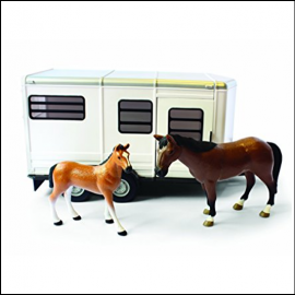Britains Toy Horse Trailer with Horse & Foal 1:16 Scale