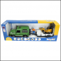 Bruder Land Rover Defender with Trailer & JCB Micro Excavator 1:16 Scale 3