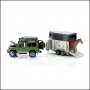 Bruder Land Rover Defender with Horse Trailer 1:16 Scale 2