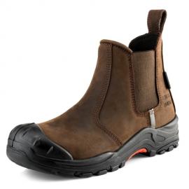 Buckshot Nubuckz Brown Safety Dealer Boot 2