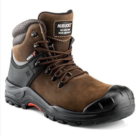 Buckshot Nubuckz Brown Safety Lace Boot 2