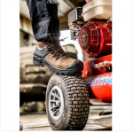 Buckshot Nubuckz Brown Safety Lace Boot 3