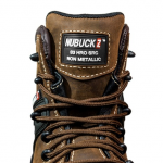 Buckshot Nubuckz Brown Safety Lace Boot 5